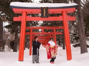 北海道海外婚紗,日本海外婚紗費用,雪景婚紗,伏見稻荷,和服攝影,北海道婚紗攝影