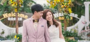 美式風格婚禮(戶外證婚) Johnny + Wen (新竹80巷庭園西式戶外婚宴)